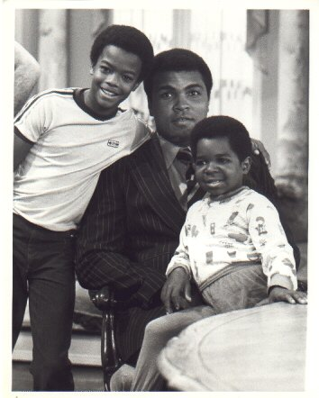 Muhammad Ali with Todd Bridges and Gary Coleman
