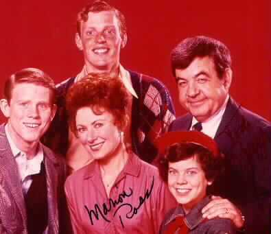 Marion Ross and Tom Bosley autograph