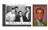 2 Henry Winkler autographed photos