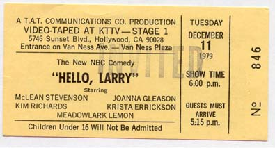 Hello, Larry ticket