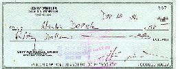 Henry Winkler signed check