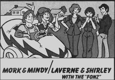 Ad for the Mork & Mindy/Laverne & Shirley with The Fonz Hour