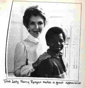 Nancy Reagan and Gary Coleman