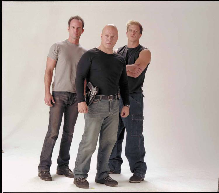 Shield: Walton Goggins, Michael Chiklis and Kenny Johnson