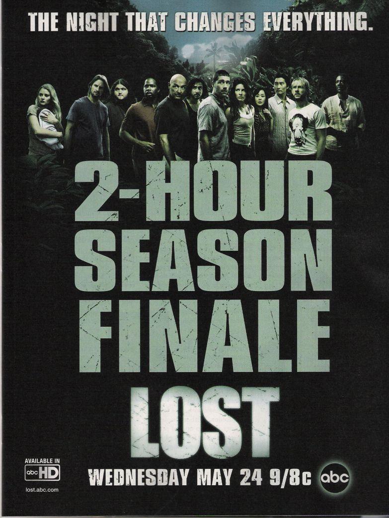 Lost 2 Hour Season Finale Ad