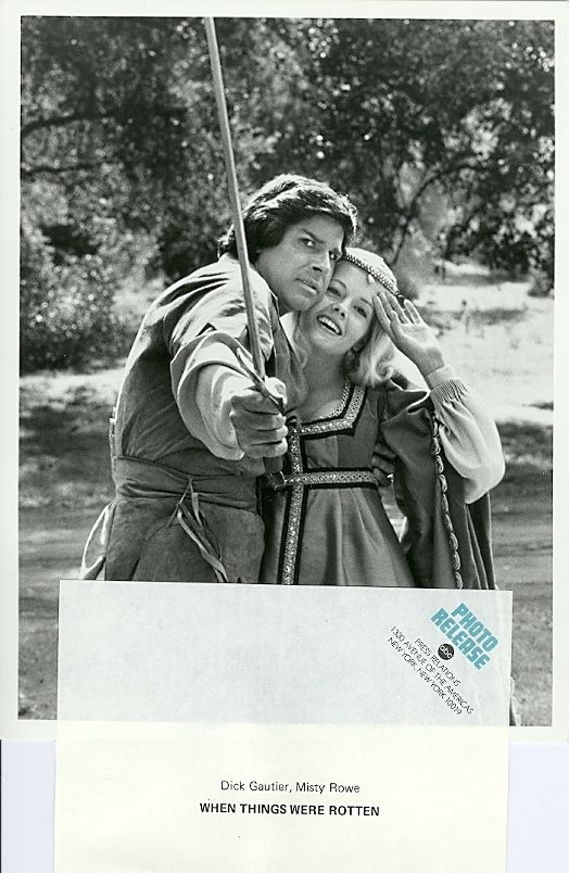 MISTY_ROWE_DICK_GAUTIER_WHEN_THINGS_WERE_ROTTEN_PORTRAIT_ORIG_1975_ABC_TV_PHOTO