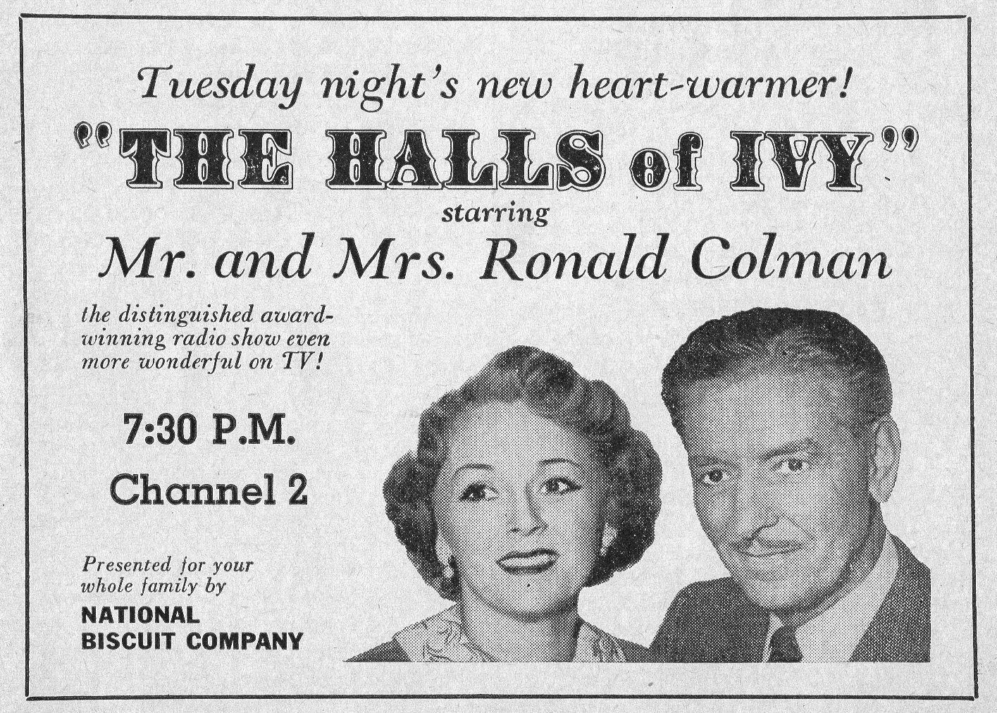 1954_TV_AD_WOC_MR_AND_MRS_RONALD_COLMAN