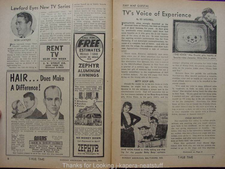 guide tv 1957