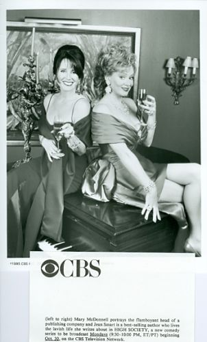 JEAN_SMART_MARY_MCDONNELL_LEGGY_BUSTY_HIGH_SOCIETY_ORIGINAL_1996_CBS_TV_PHOTO
