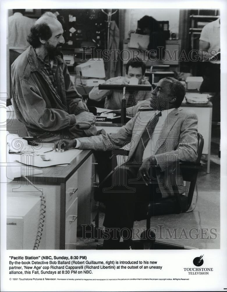 1991_Press_Photo_Robert_Guillaume_and_Richard_Libertini_in_Pacific_Station_