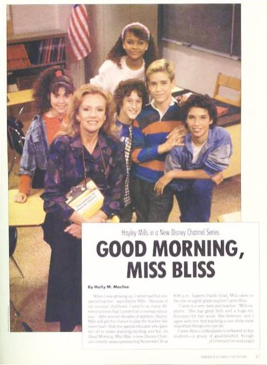 Good Morning, Miss Bliss - Cast - Sitcoms Online Photo ...