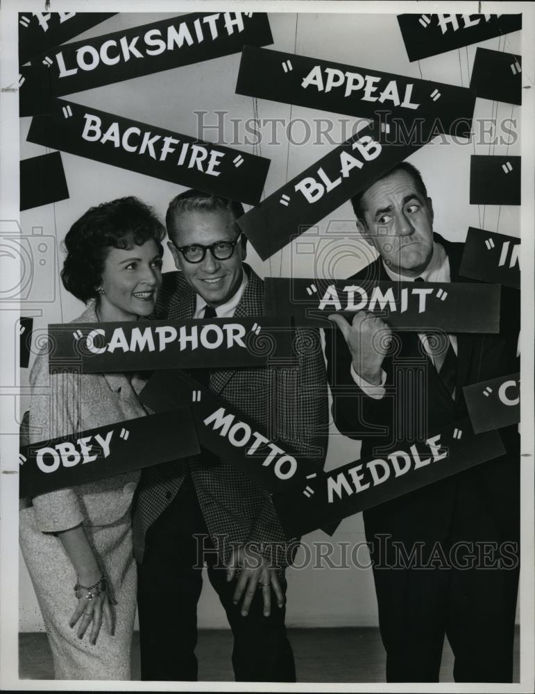 1962_Press_Photo_Allen_Ludden_Betty_White_and_Jim_Backus_on_Password_Game_Show