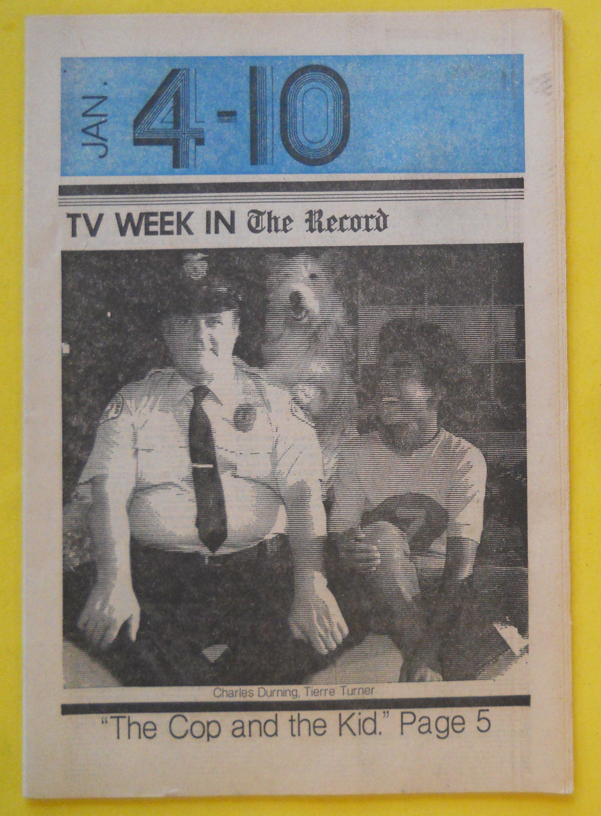 Charles_Durning_Tierre_Turner_THE_COP_AND_THE_KID_Bergen_NJ_TV_guide_Jan_4_1976