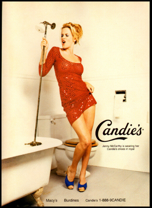1997 vintage ad for Candies Shoes