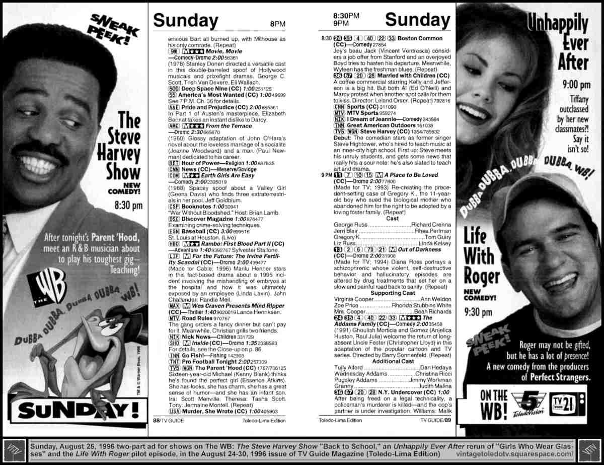 Tv guide – june 23, 1986 | my night walk.