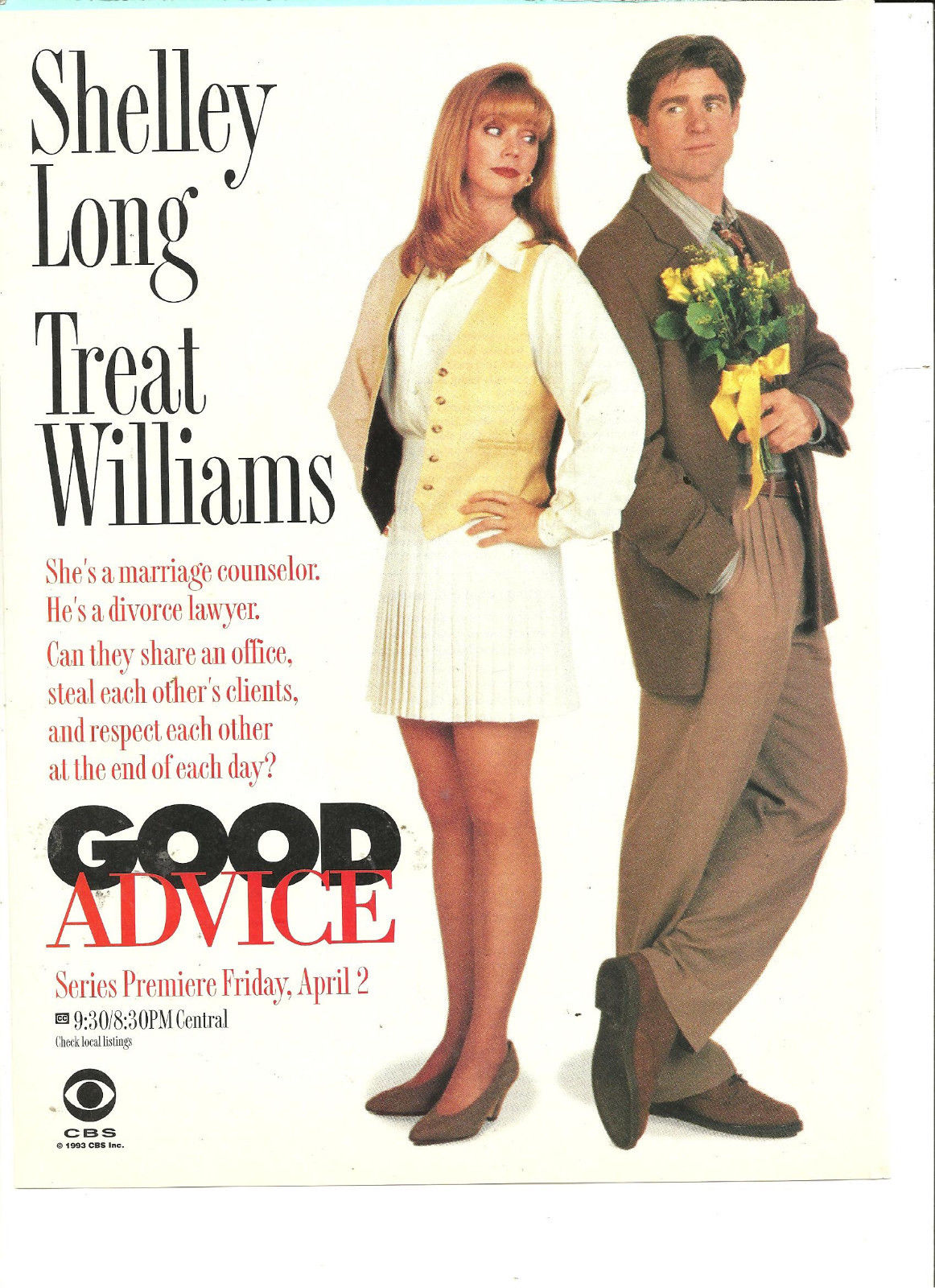 Treat_Williams_Shelley_Long_Good_Advice_Full_Page_Promotional_Ad