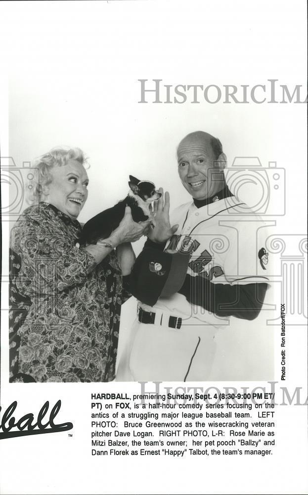 1994_Press_Photo_Dann_Florek_and_Rose_Marie_star_in_Hardball_on_Fox_