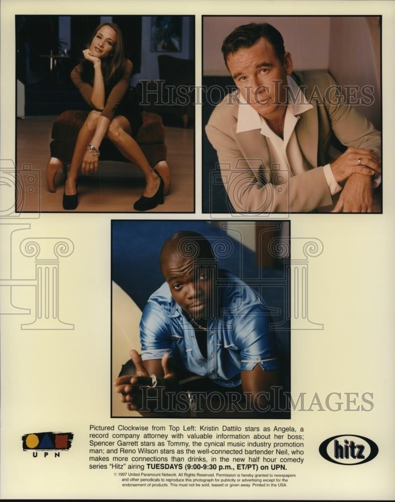 1997_Press_Photo_Kristin_Dattilo_Spencer_Grant_Reno_Wilson_in_Hitz