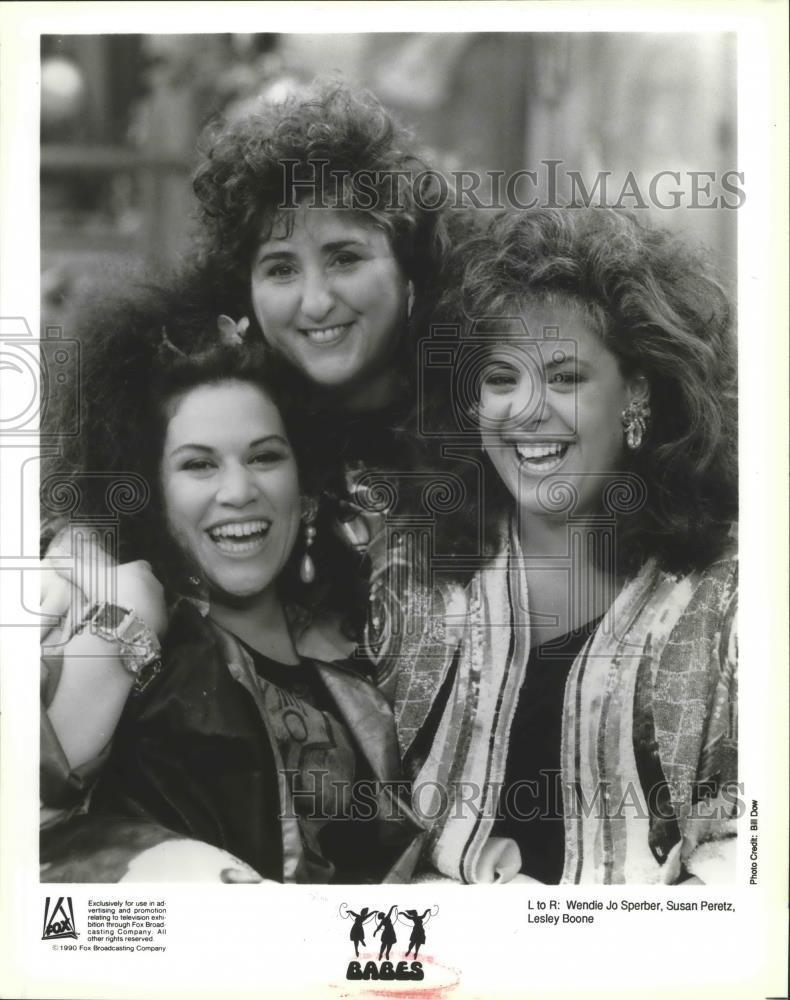 1990_Press_Photo_Susan_Peretz_Wendie_Jo_Sperber_Lesley_Bone_in_Babes_