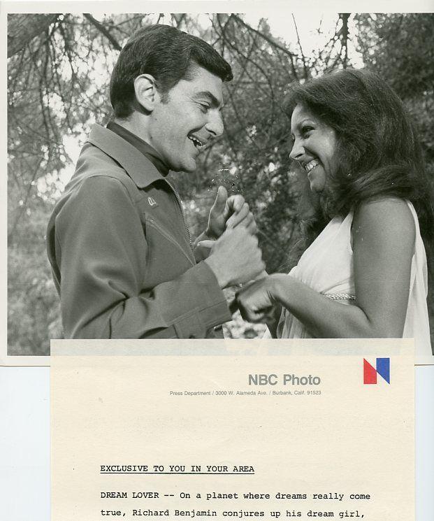 MINDI_MILLER_RICHARD_BENJAMIN_SMILING_PROFILE_PORTRAIT_QUARK_1978_NBC_TV_PHOTO