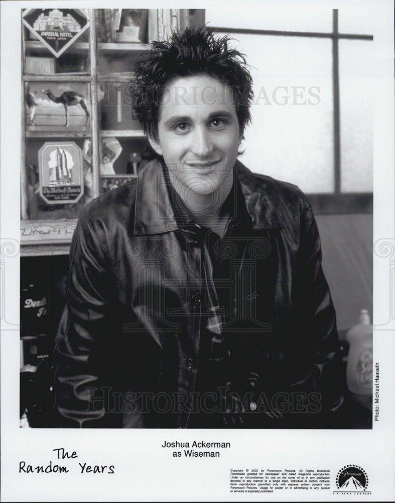 2002_Press_Photo_Actor_Joshua_Ackerman_The_Random_Years