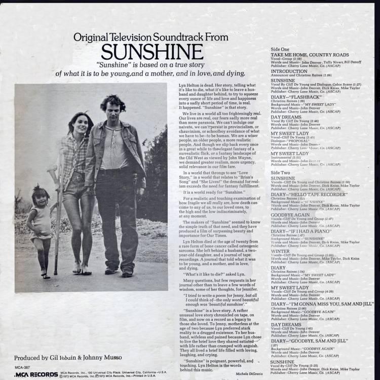 1973 sunshine movie soundtrackback cover sitcoms online