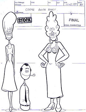 The Oblongs Production Sketch Anita Bidet Sitcoms