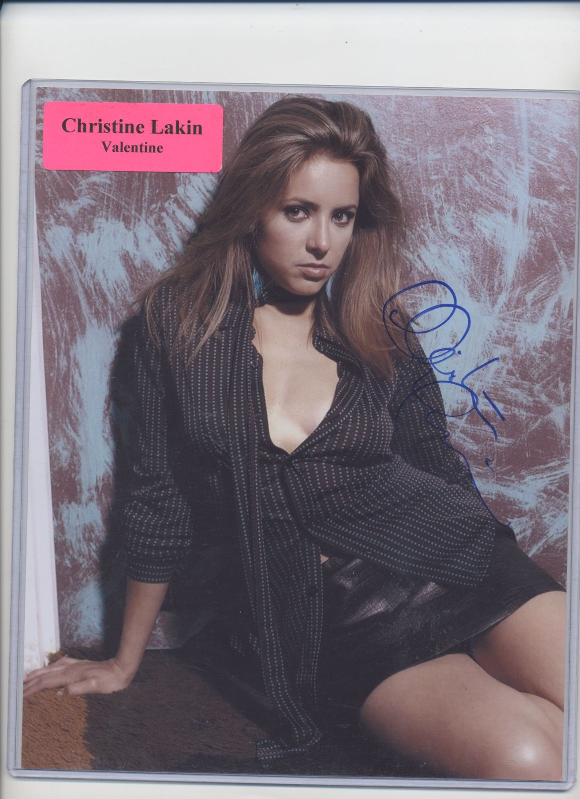 CHRISTINE_LAKIN_AUTOGRAPHED_8_X_11_COLOR_PHOTO_SIGNED_VALENTINE_STEP_by_STEP