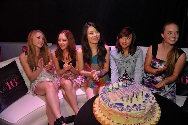 Elaborate Sweet Sixteen Birthday Party Stock Photo