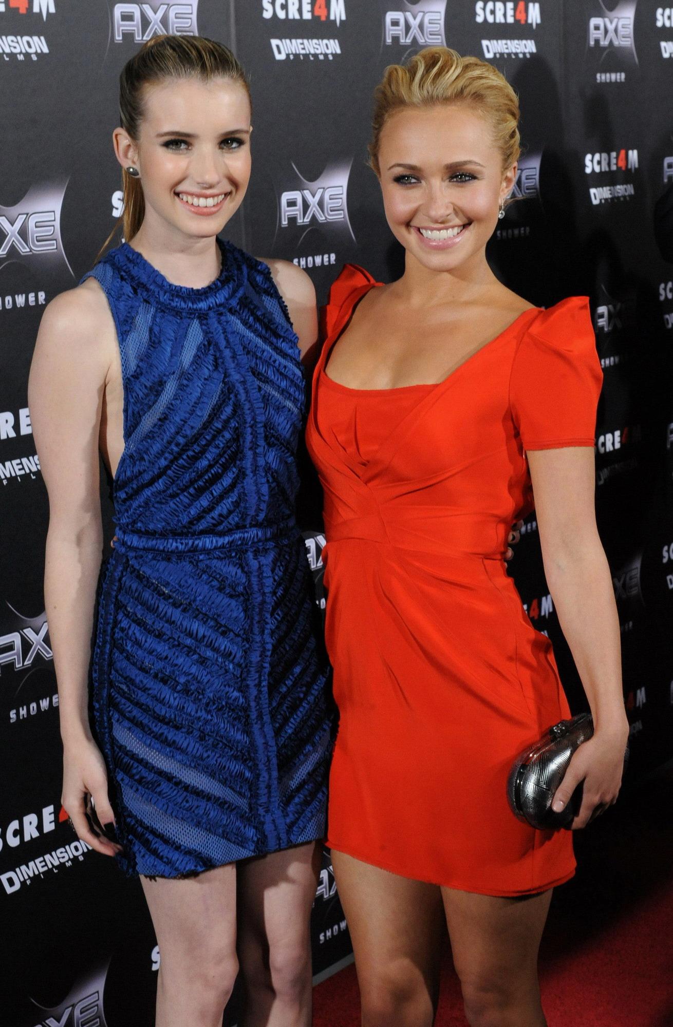 Emma Roberts with Hayden