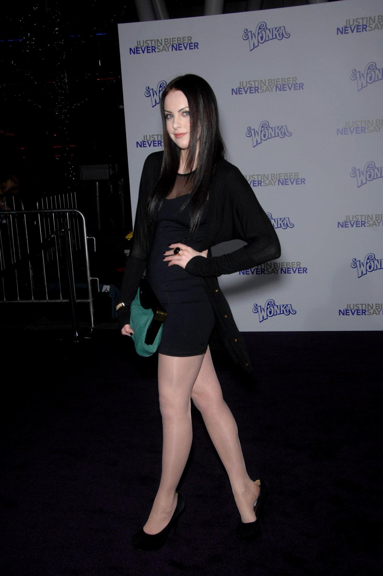elizabeth gillies at the justin bieber movie premiere
