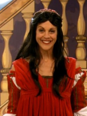 Wendie Malick as Victoria playing Juliet in a school play ...