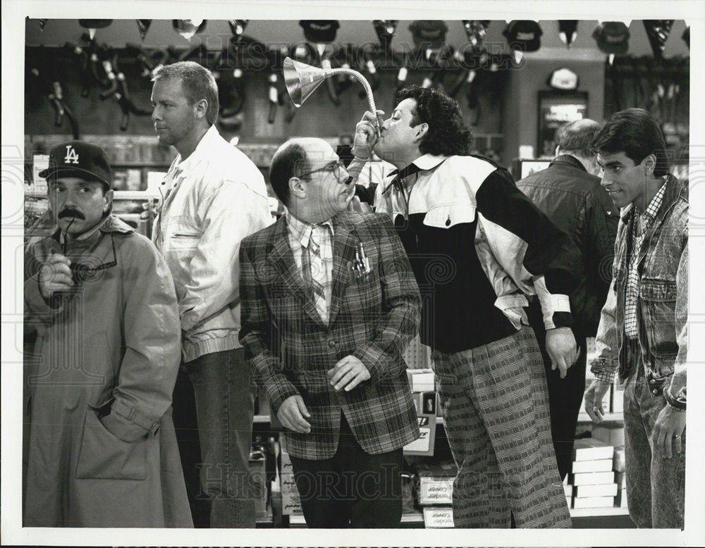 1988_Press_Photo_Luis_Avalos_Actor_Paul_Rodriguez_Eddie_Velez_Trial_Error_Sitcom