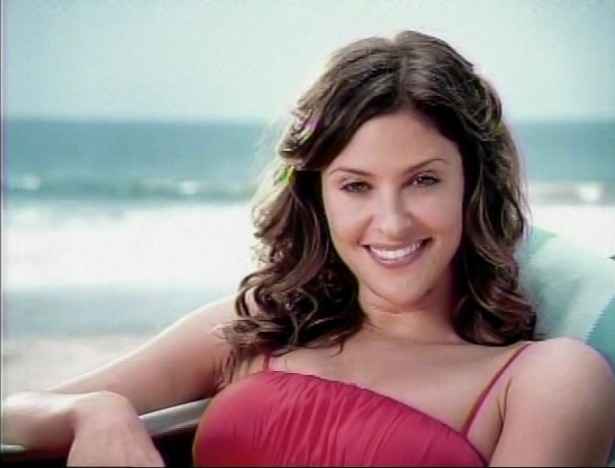 Jill Wagner of ABCs Wipeout on a Mercury Commercial