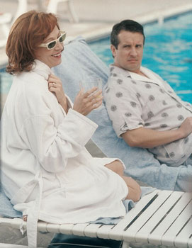 Charlotte and jerry sit by the pool sitcoms online photo for Pool show charlotte