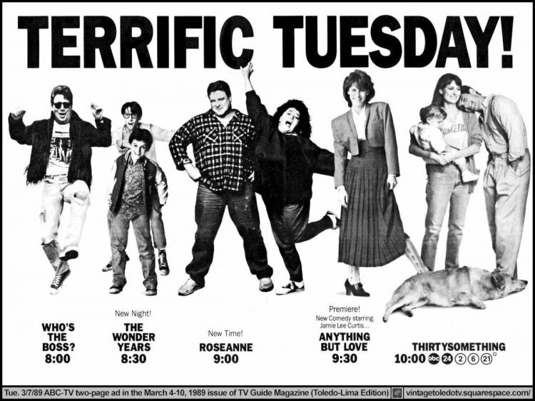 March 1989 ABC Tuesday Lineup TV Guide Ad