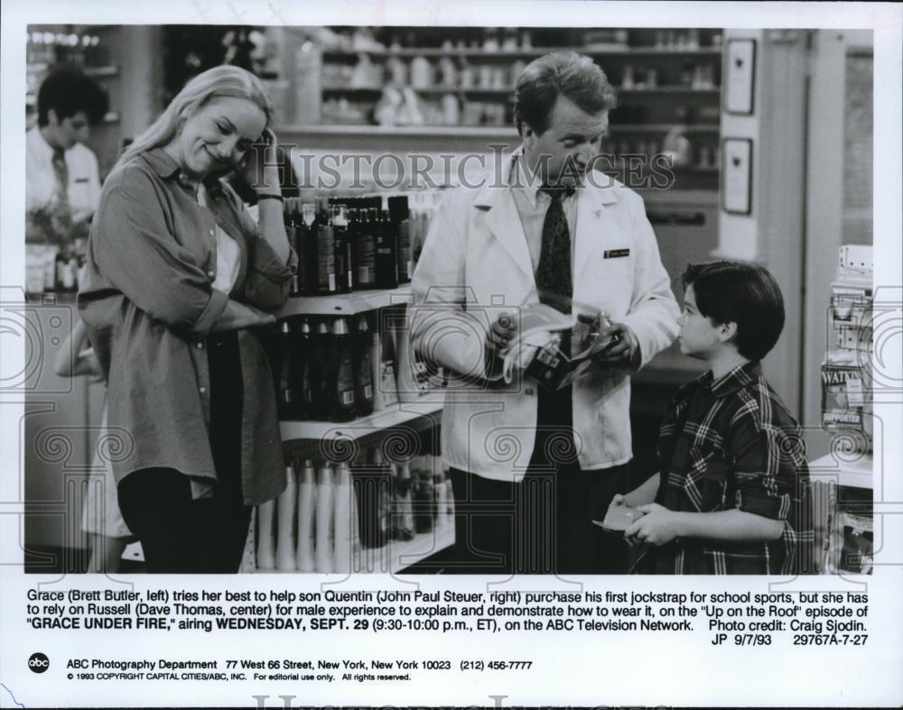 1993_Press_Photo_Brett_Butler_John_Steuer_and_Dave_Thomas_in_Grace_Under_Fire