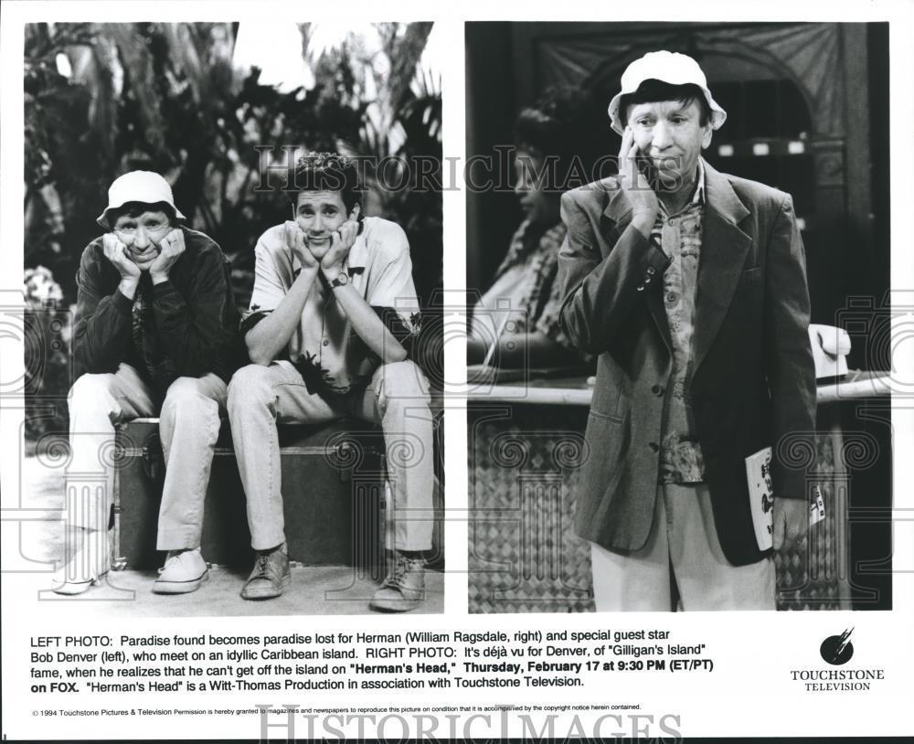 1994_Press_Photo_William_Ragsdale_and_Bob_Denver_in_Herman_s_Head_-_spp62625