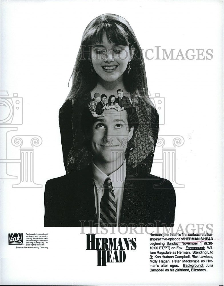 s-1992_Press_Photo_Julia_Campbell_Actress_William_Ragsdale_Actor_Herman_s_Head_TV