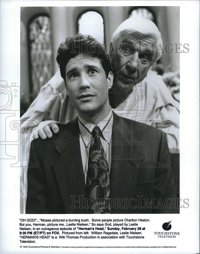 s-l16001993_Press_Photo_William_Ragsdale_Actor_Leslie_Nielsen_Herman_s_Head_Sitcom_TV