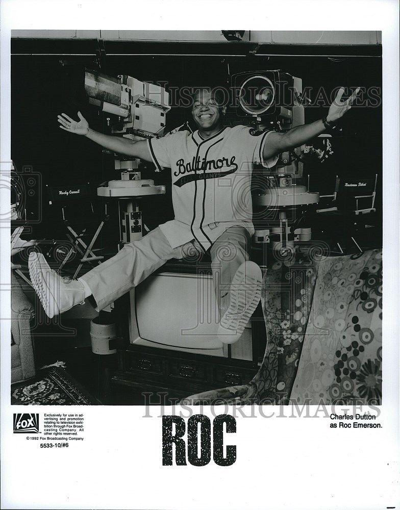 1992_Press_Photo_Charles_Dutton_American_Actor_Stars_As_Roc_Emerson_Sitcom_TV