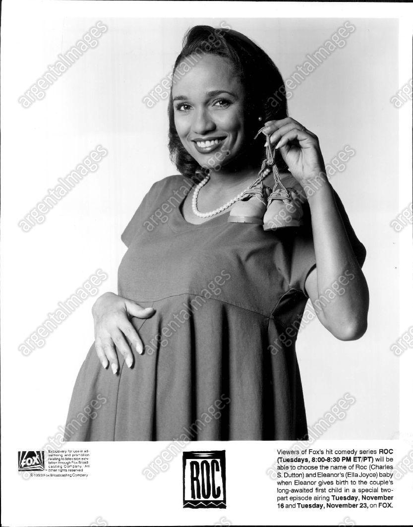 1993_Ella_Joyce_Actress_Comedy_Series_ROC_Pregnant_Baby_Shoes_Press_Photo