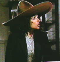 Elaine wearing the Urban Sombrero
