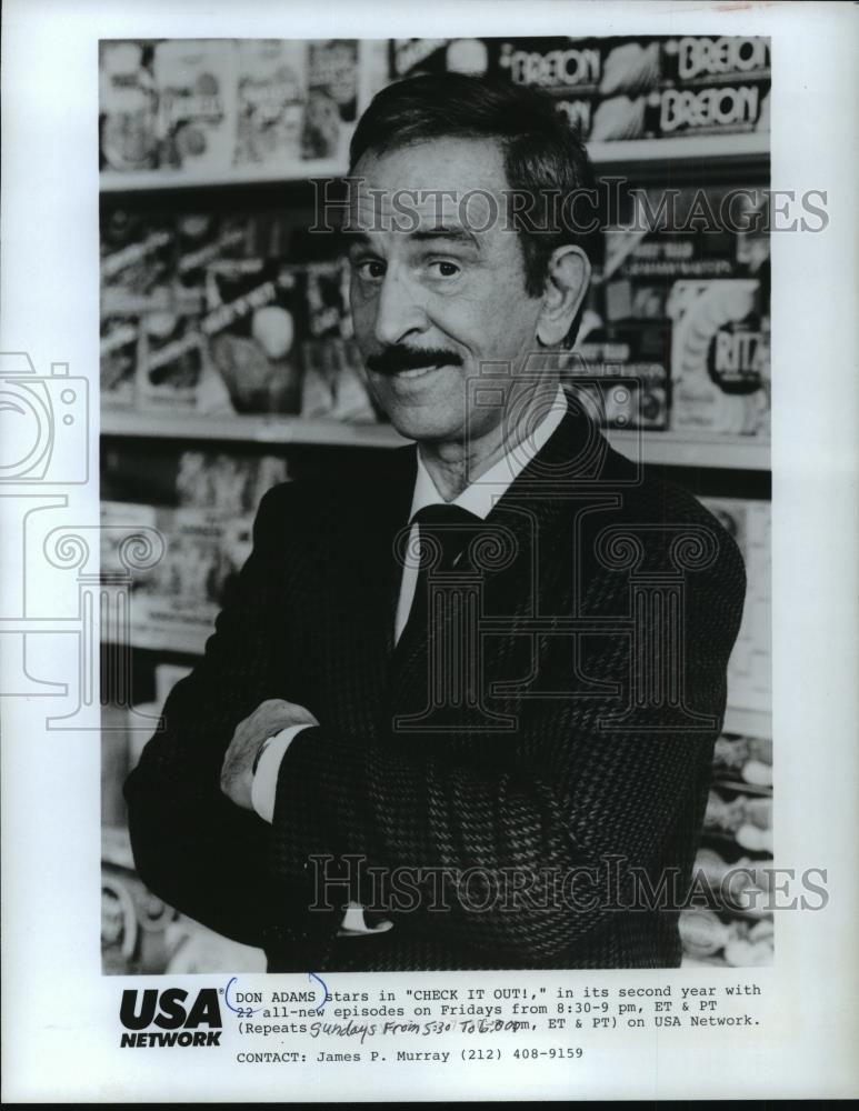 1986_Press_Photo_Don_Adams_Starring_in