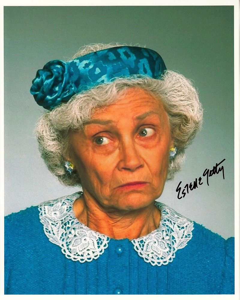 ESTELLE_GETTY_hand-signed_THE_GOLDEN_GIRLS_8x10_authentic_w_coa_GREAT_CLOSEUP