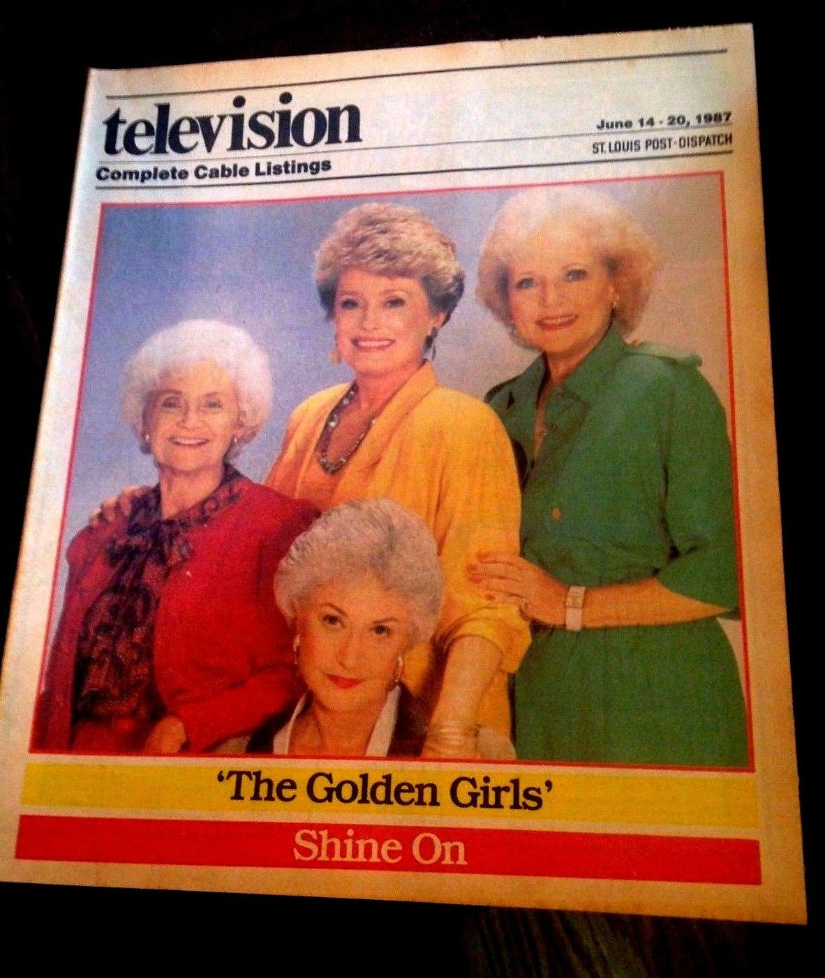 TV_GUIDE_THE_GOLDEN_GIRLS_SHINE_ON_6-14-87_ST_LOUIS_NEWSPAPER_RARE_NM