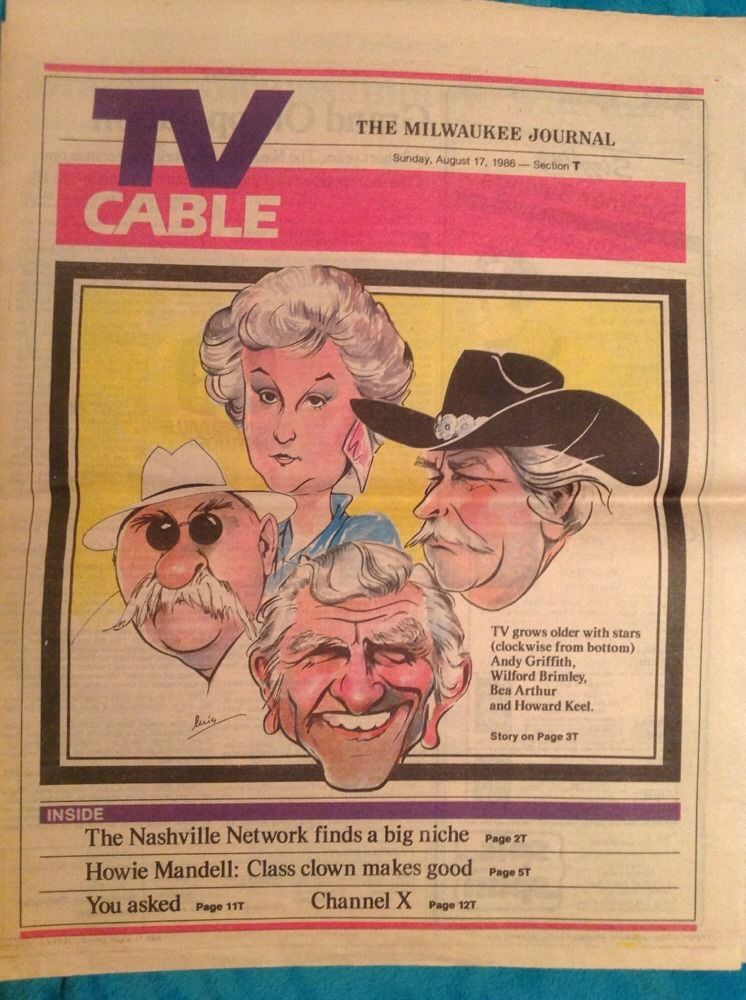 The_Golden_Girls_BEA_ARTHUR_Andy_Griffith_1986_TV_CABLE_Newspaper_Supplement
