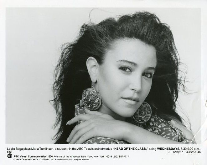 LESLIE_BEGA_PRETTY_PORTRAIT_HEAD_OF_THE_CLASS_ORIGINAL_1986_ABC_TV_PHOTO