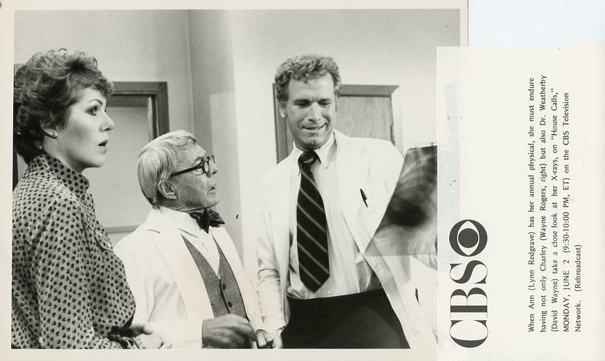 LYNN_REDGRAVE_DAVID_WAYNE_WAYNE_ROGERS_HOUSE_CALLS_ORIGINAL_1980_CBS_TV_PHOTO