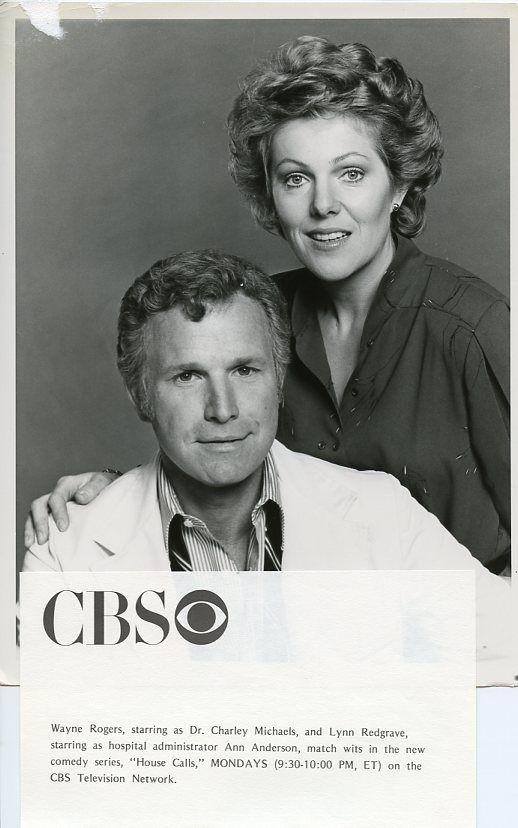 LYNN_REDGRAVE_WAYNE_ROGERS_SMILE_PORTRAIT_HOUSE_CALLS_ORIGINAL_1978_CBS_TV_PH